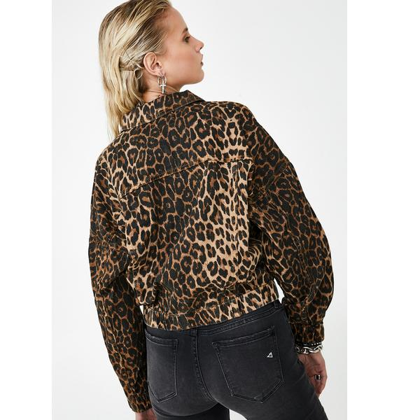 Lioness Bad Behavior Leopard Jacket