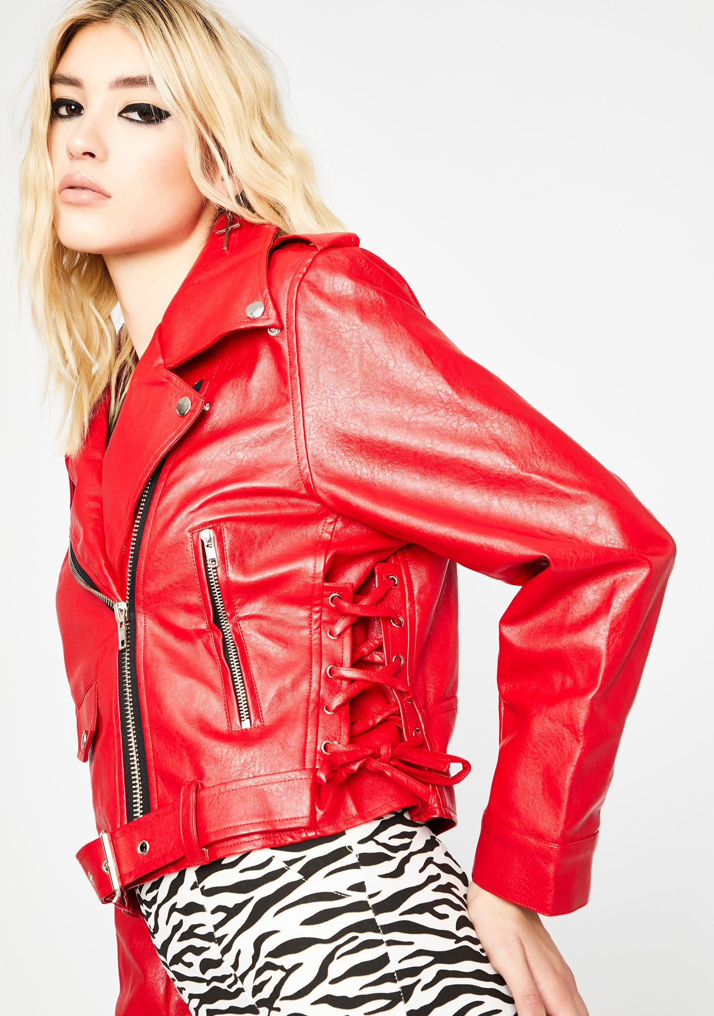 Laced In Love Moto Jacket