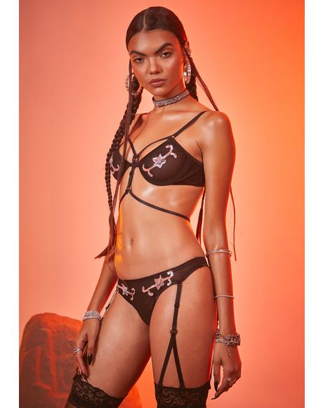 Stick 'Em Up Harness Lingerie Set