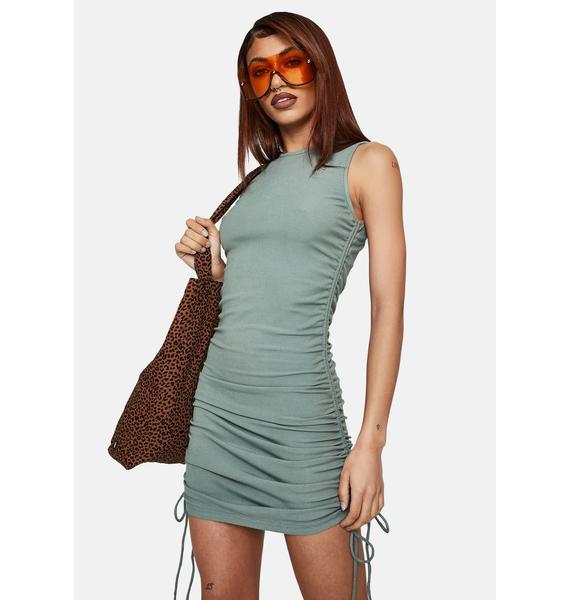 Bailey Rose Sage Side Tie Mini Dress