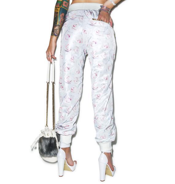 Joyrich White Rose Reverse Pants