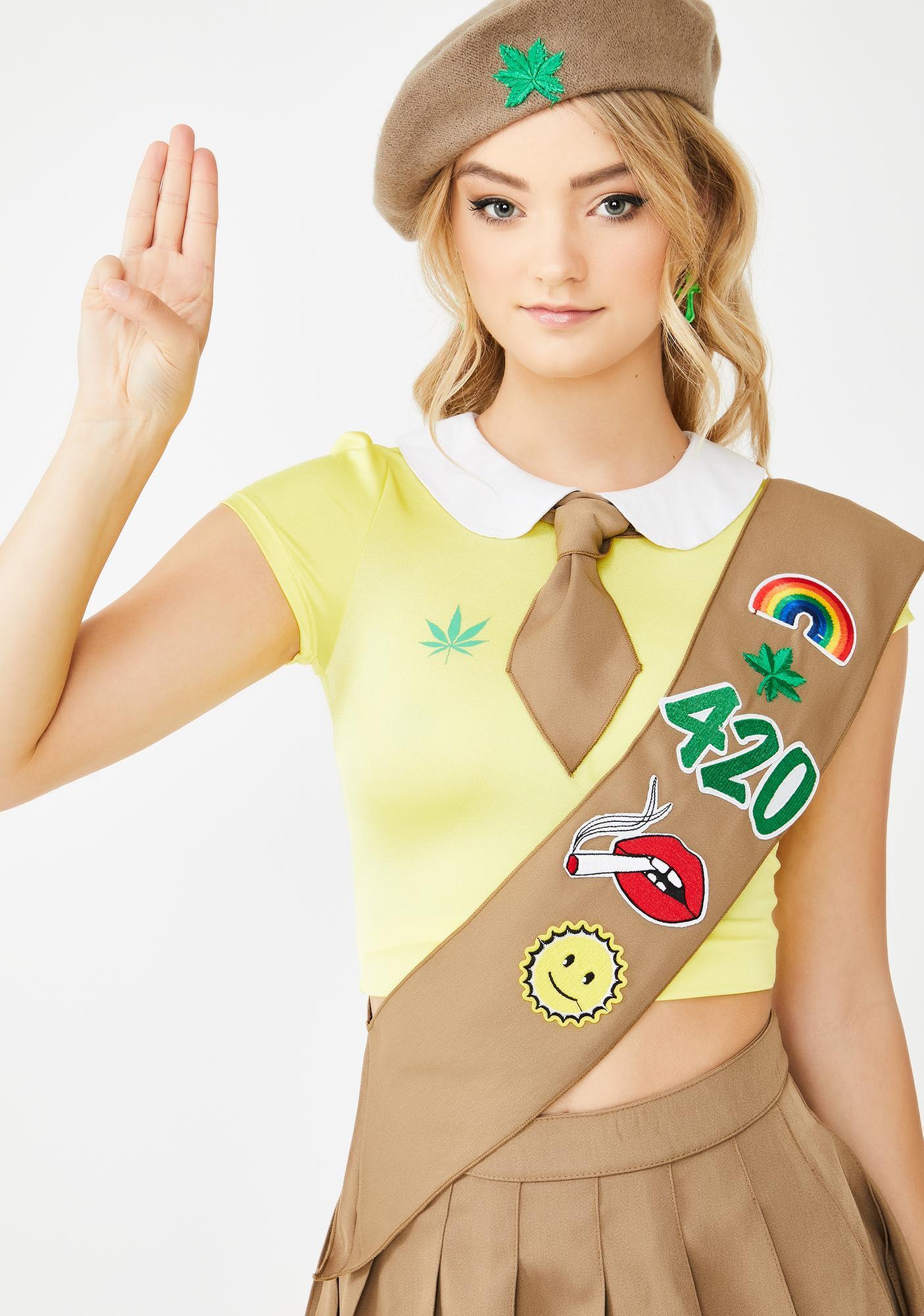 Dolls Kill Lil Miss Pot Brownie Costume Set