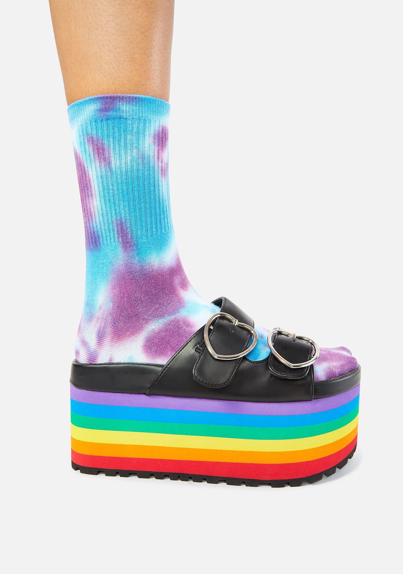 Charla Tedrick Lovesick Rainbow Platform Sandals
