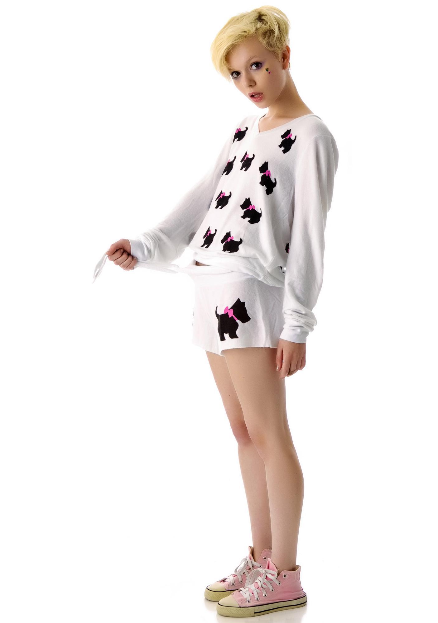 Wildfox Couture Black Doggie Cutie Shorts