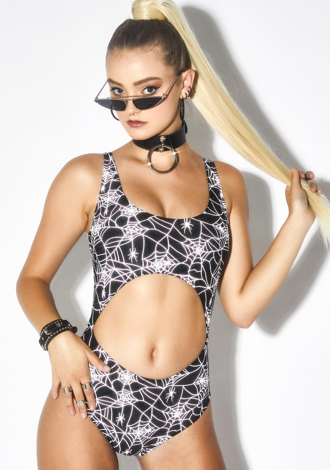 Dolls Kill Spider Byte Reflective Bodysuit