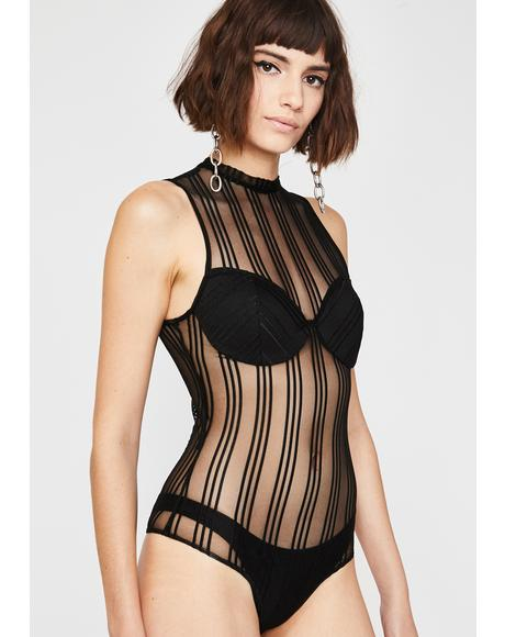 Between The Lines Mesh Bodysuit