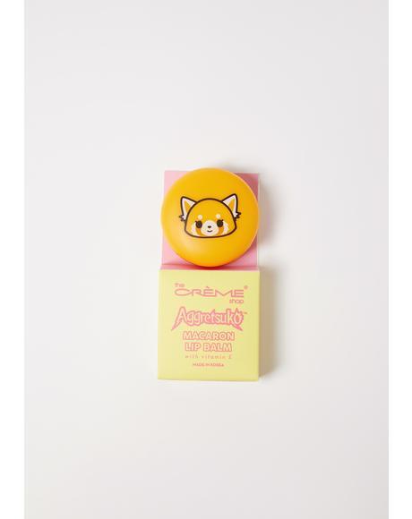 Aggretsuko Raspberry Macaron Lip Balm