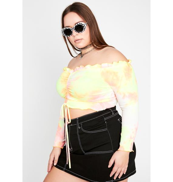 Honey Ready One Two Three Ruched Top