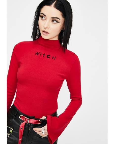 Red Fortune-Telling Witch Top