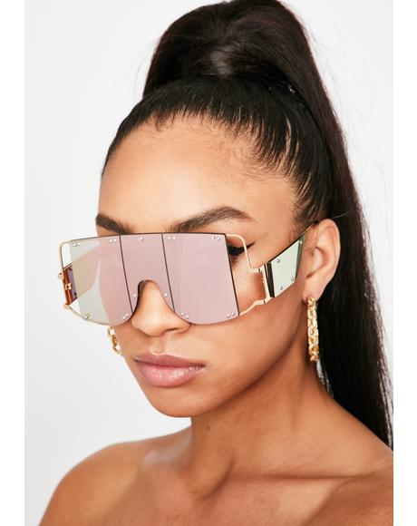 Juicy Club Clout Shield Sunglasses
