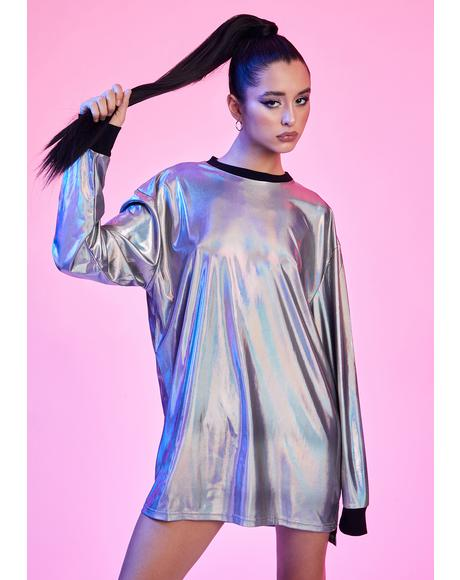 Disco Dreams Holographic Long Sleeve Tee