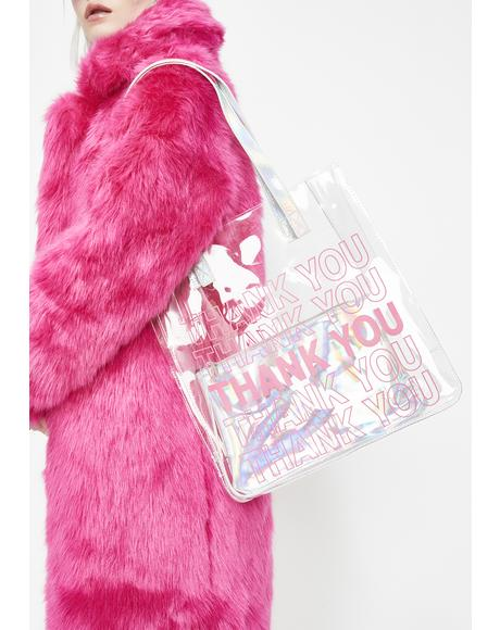 Thank U Next Clear Tote