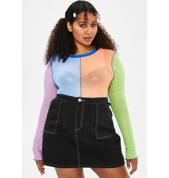 dELiA*s by Dolls Kill Your Twisted Sister Mesh Top