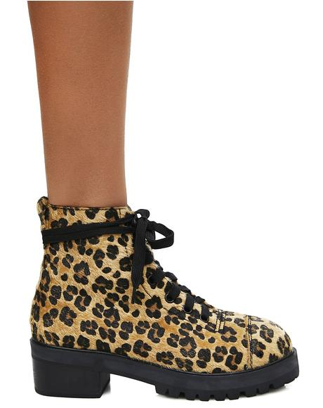 Ready To Pounce Leopard Boots