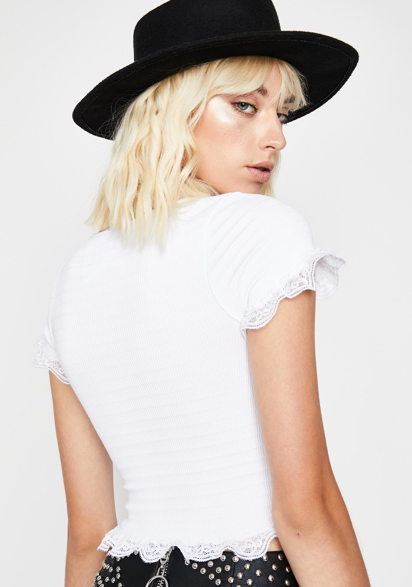 Boho Bliss Lace-Up Top