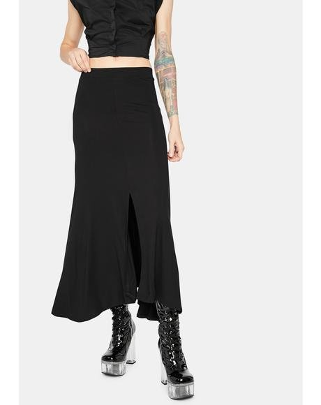 Always Chic Slit Maxi Skirt