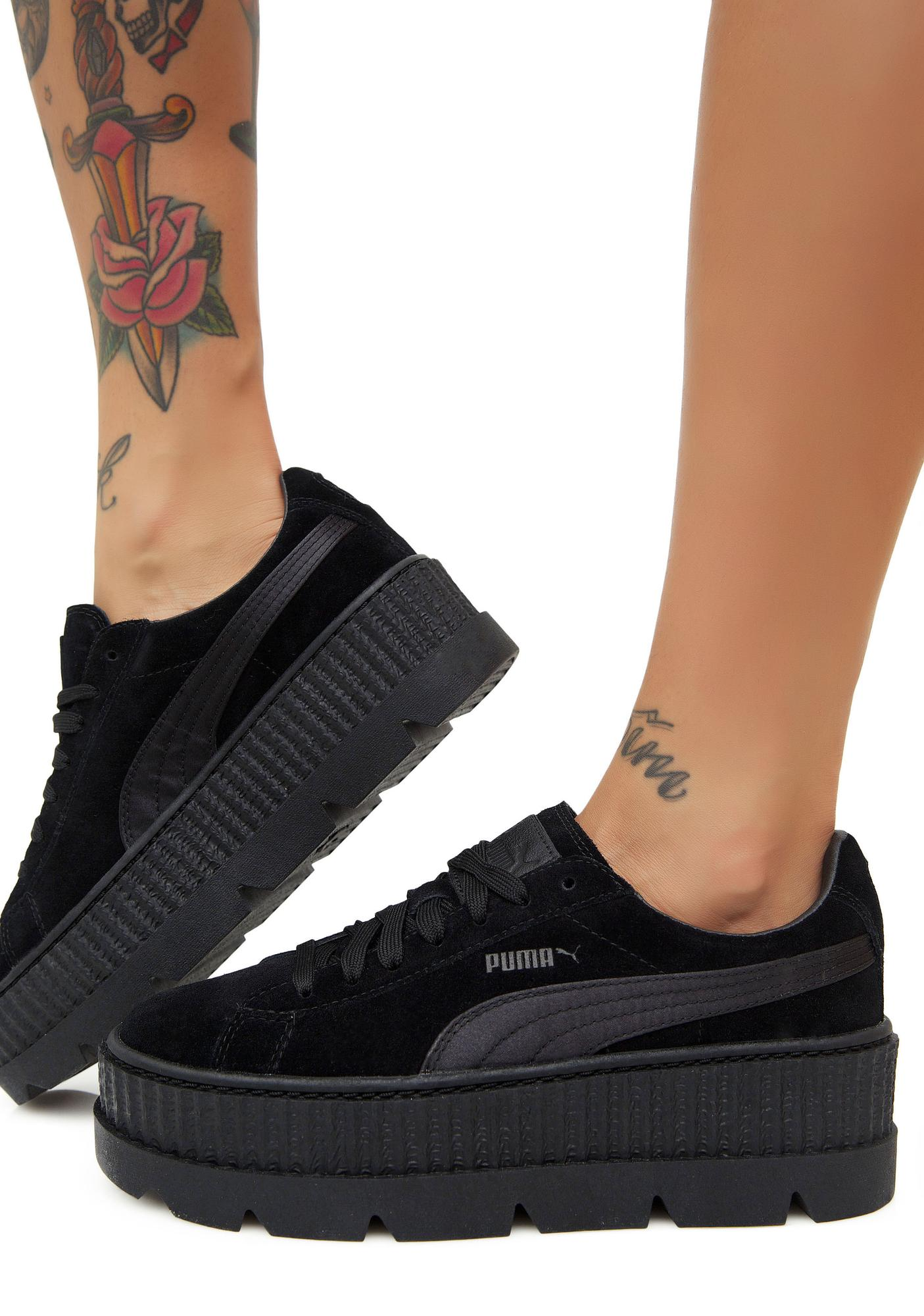 Onyx FENTY PUMA by Rihanna Cleated Suede Creepers