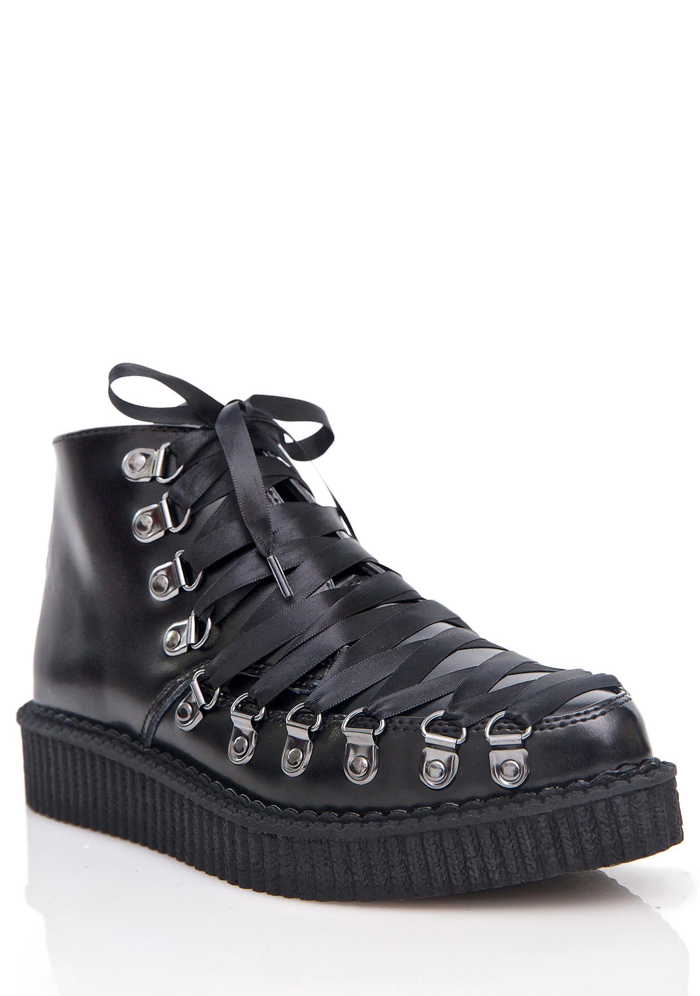 53a75ee46fc ... T.U.K. Lace-Up Corset Creepers ...