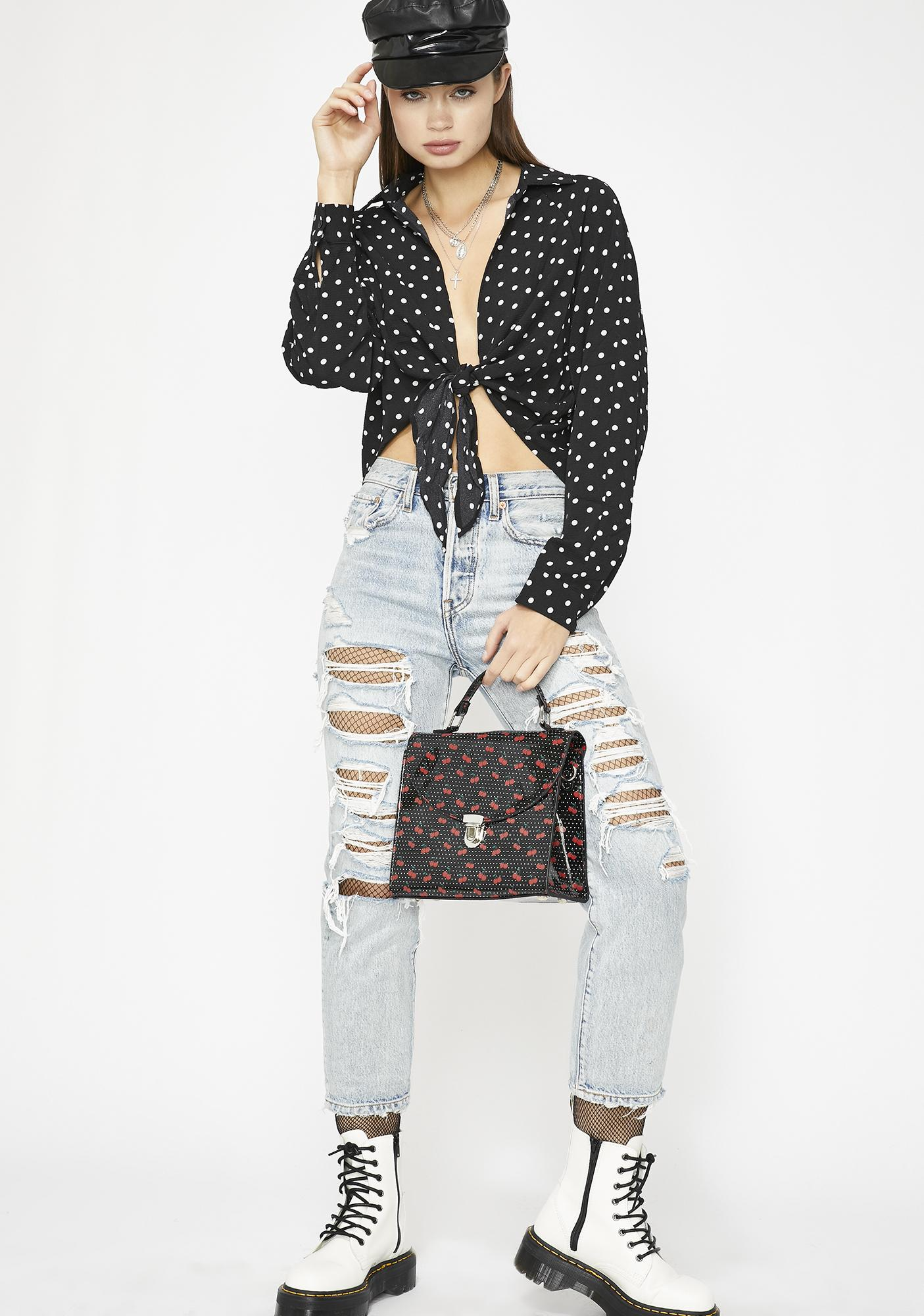 One Night Only Wrap Top
