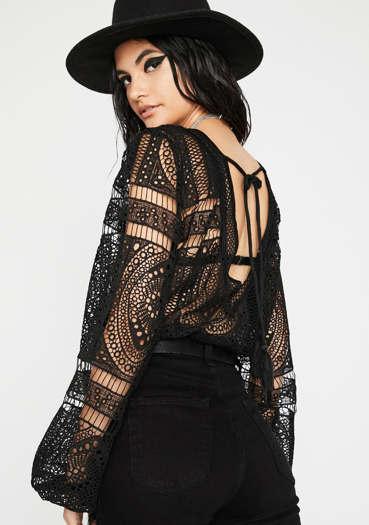 Inner Spirit Crochet Bodysuit