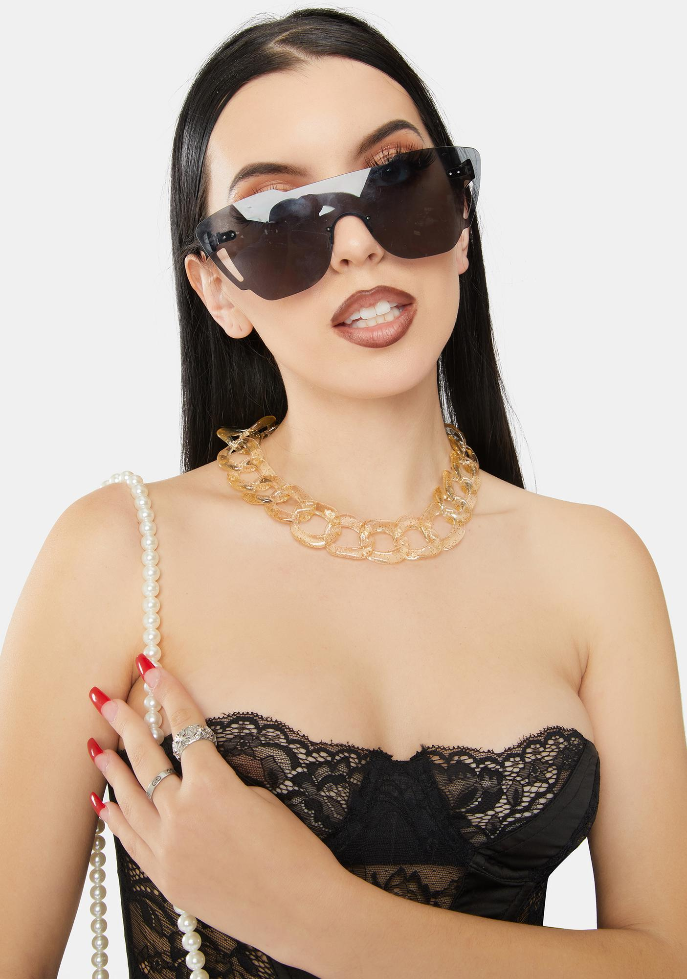 Gold Watch Me Slay Chain Necklace