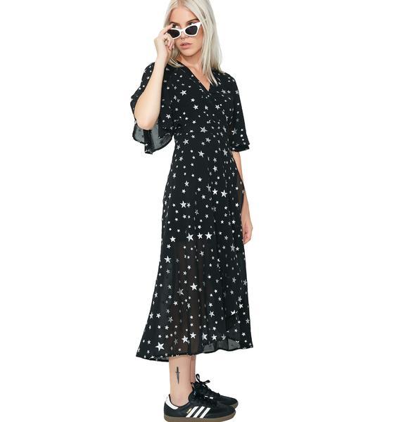 So Stellar Wrap Dress