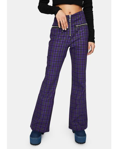 Unify Plaid Flare Pants