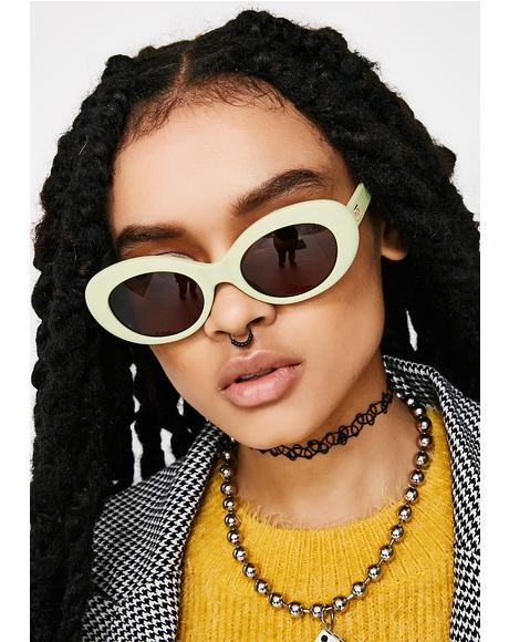 The Love Tempo Matte Avocado Sunglasses