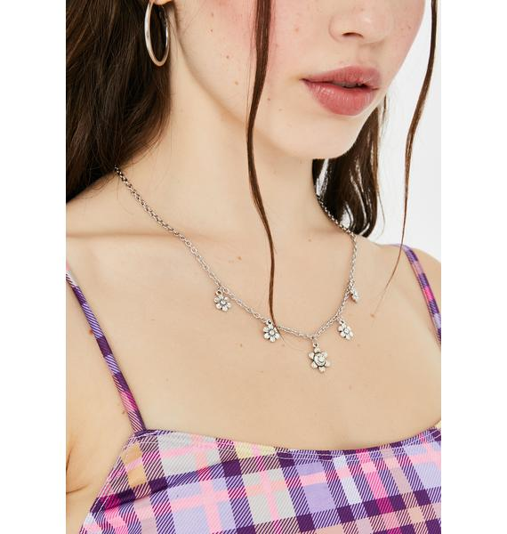 You Complete Me Daisy Charm Necklace