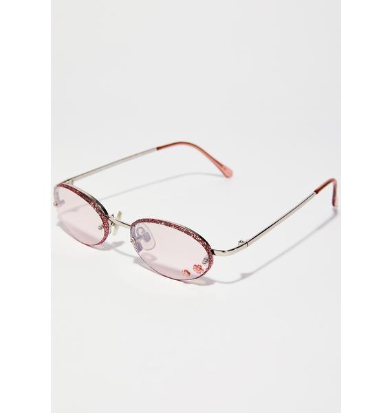 Just A Girl Flower Sunglasses