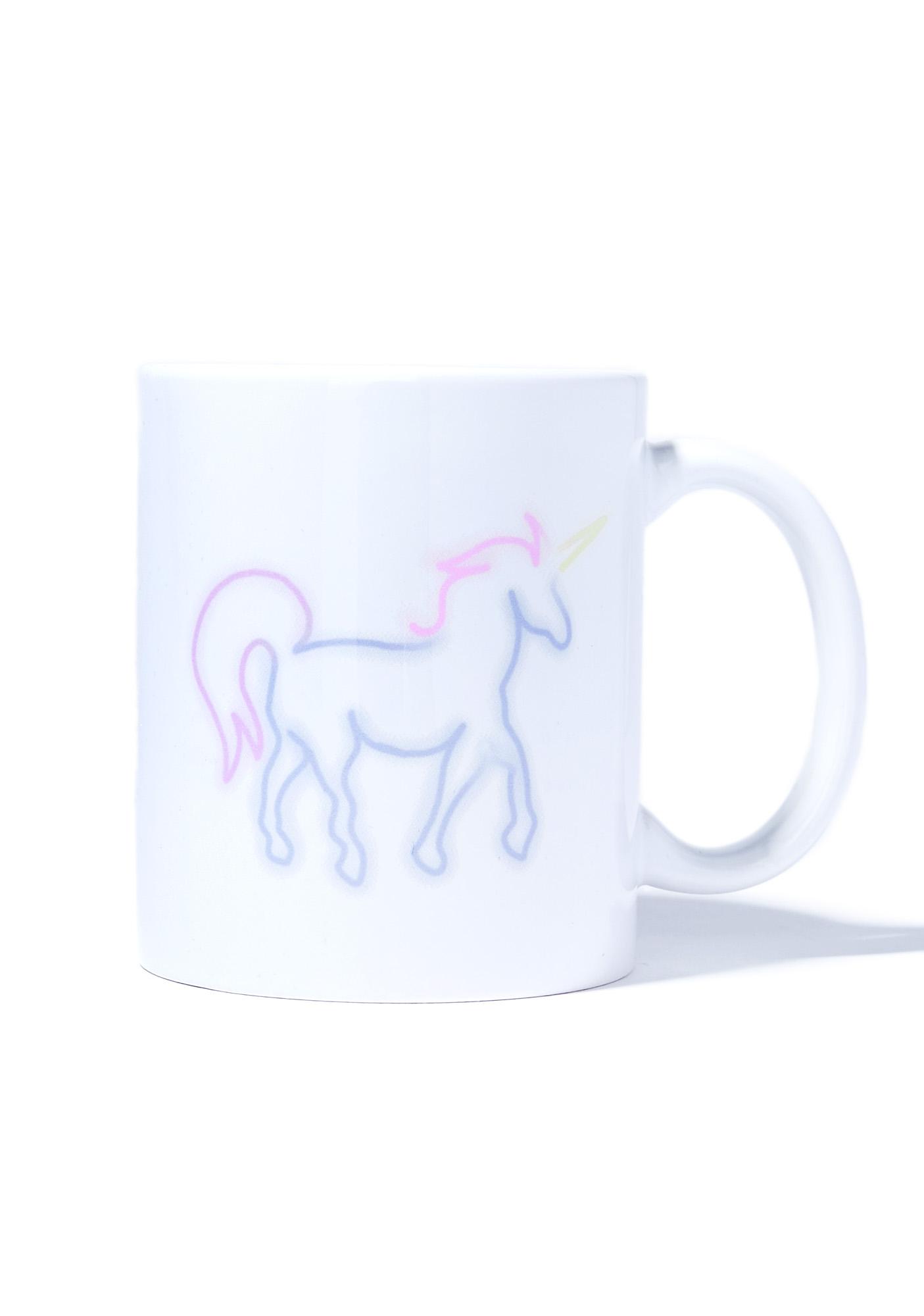 Laser Kitten Neon Unicorn Mug