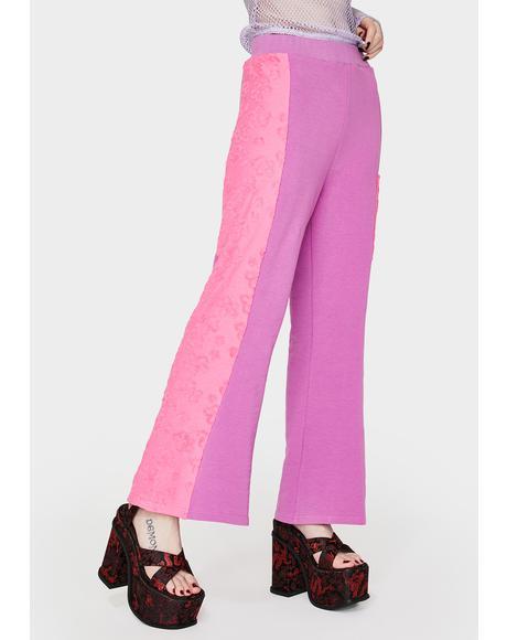 Purple & Pink Daisy Pants