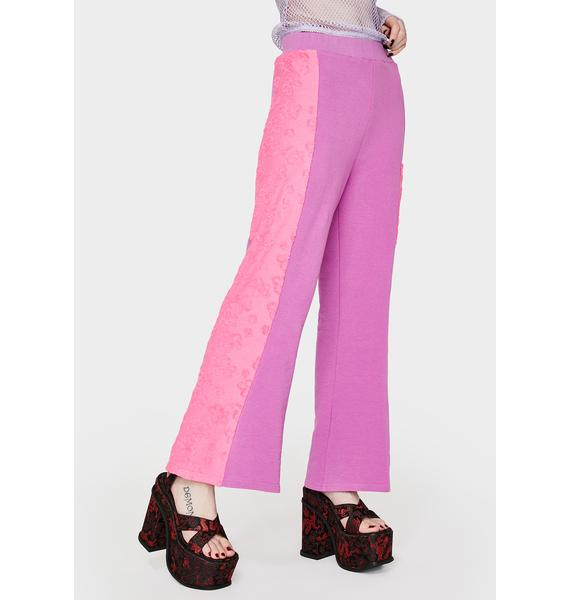 GANGYOUNG Purple & Pink Daisy Pants