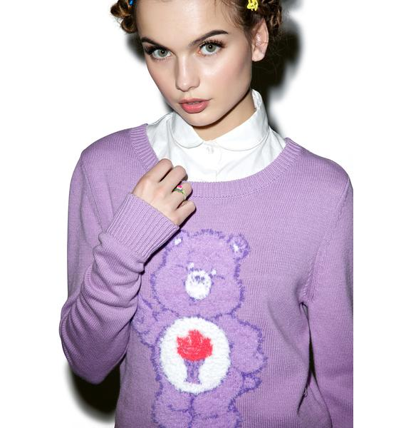 Iron Fist Share Bear Crop Sweater