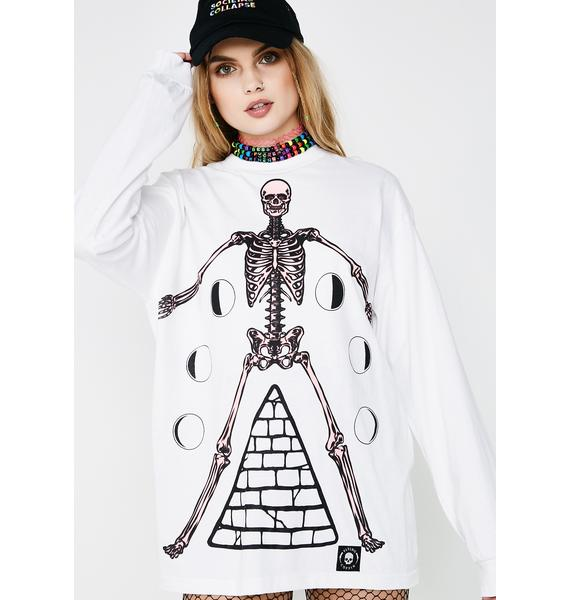 Flying Coffin Phases Long Sleeve Tee