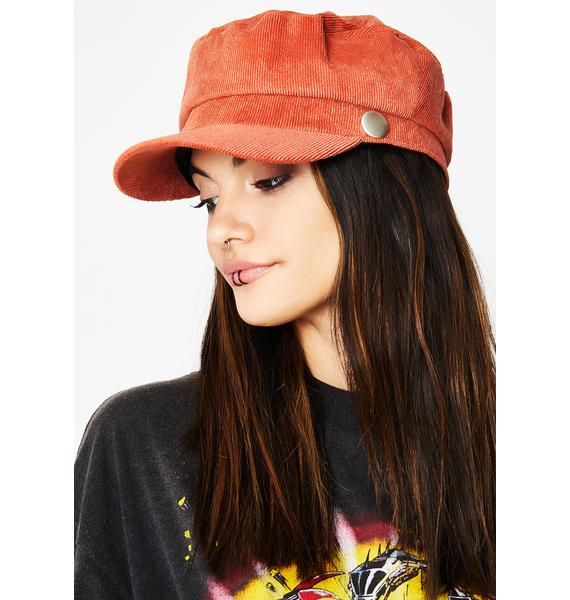 Rust Next Stop Conductor Hat