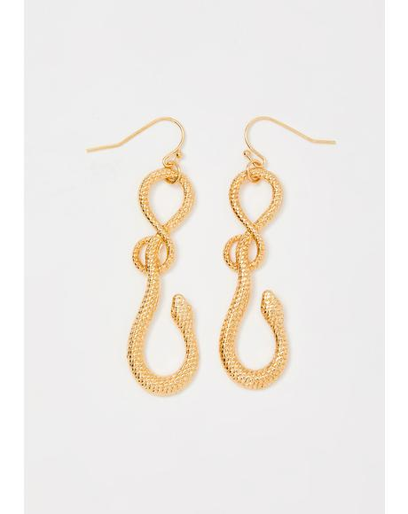 Savage Loyalty Snake Earrings