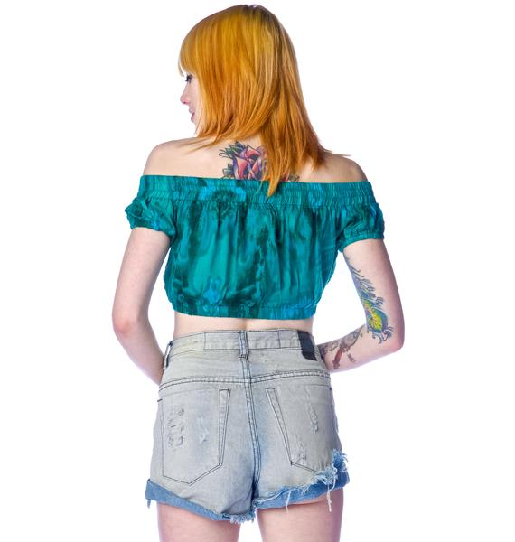 One Teaspoon Emerald Rose Gypsy Bodice