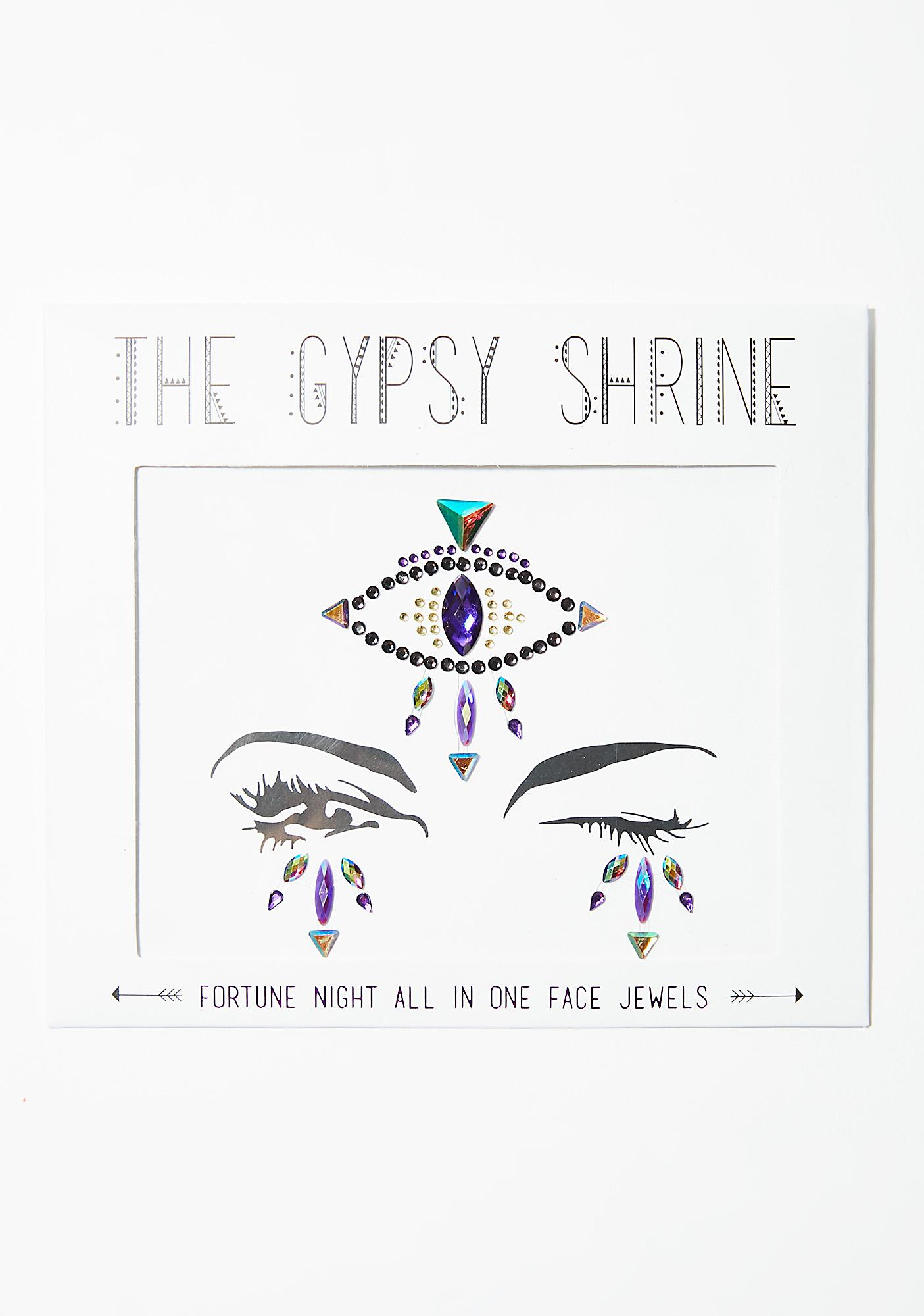 SHRINE Fortune Teller Eye Face Gems
