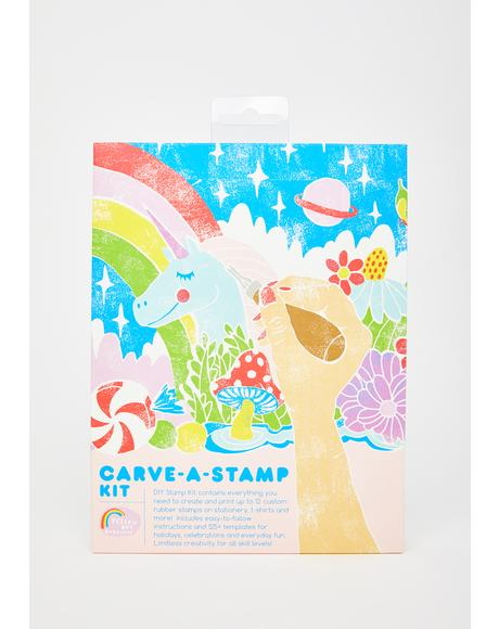Carve-A-Stamp DIY Rubber Stamp Kit