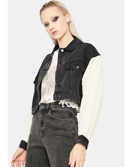 Virtual Takeover Cropped Denim Jacket