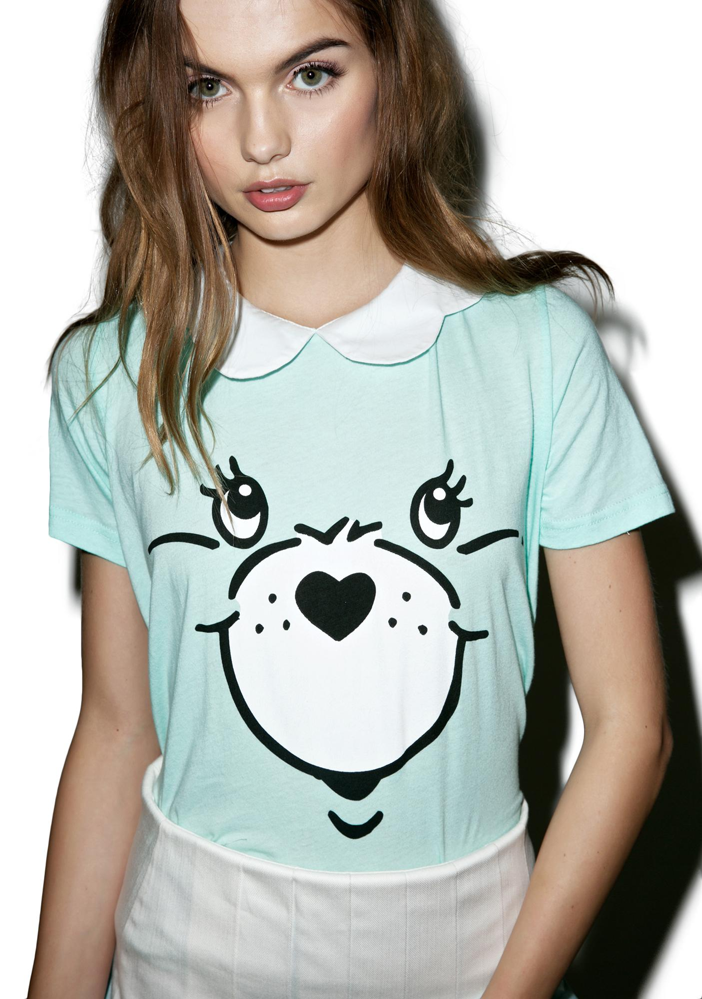 Iron Fist Minty Care Bear Stare Girly Tee