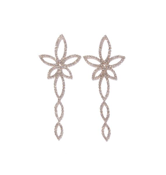 Sparkly Floral Earrings