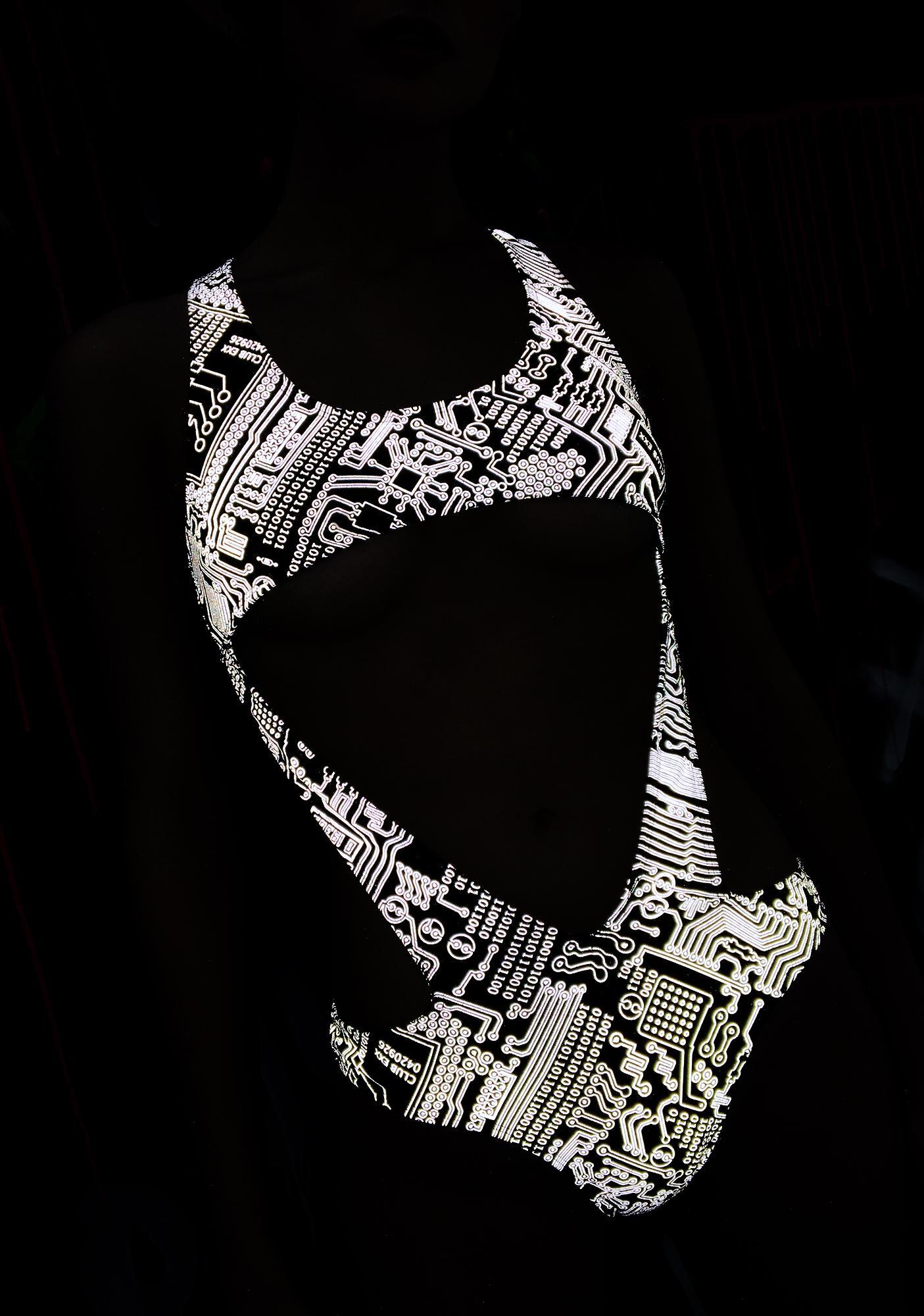 Club Exx Technosexxual Reflective Bodysuit