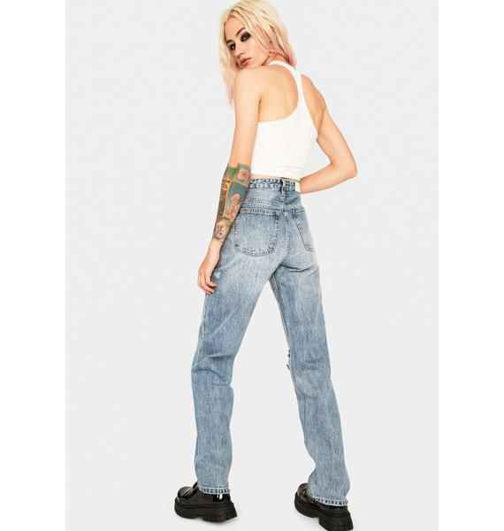 Zee Gee Why All Time Blues Slash Rebound Long Jeans