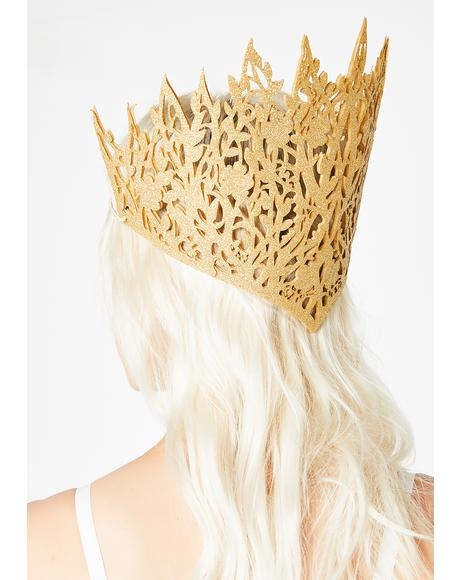 Royal Behavior Glitter Crown
