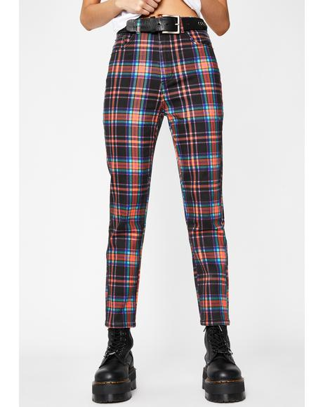 Daily Drama Plaid Trousers