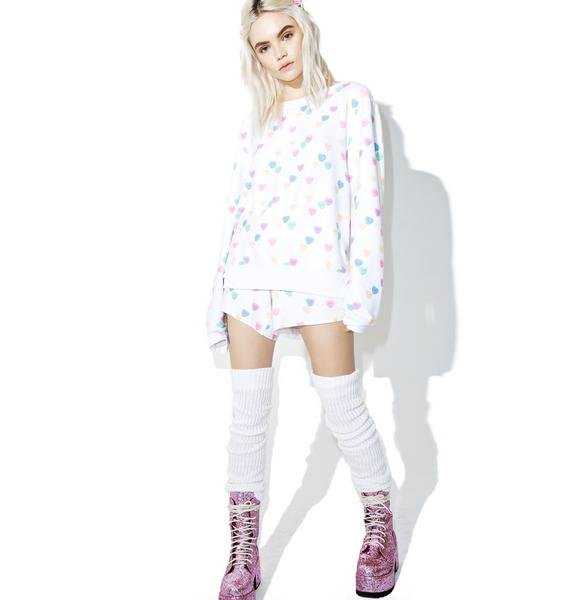 Wildfox Couture Sweethearts Baggy Beach Jumper