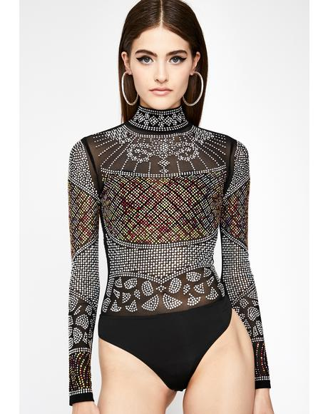 Rich Desire Rhinestone Bodysuit