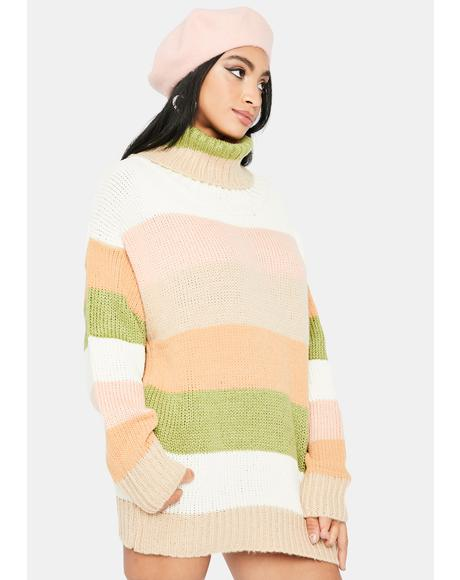 Sweet By Nature Striped Sweater